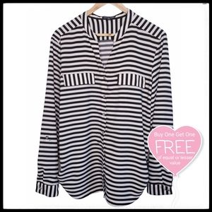 ⭐3/$25⭐ Notations Striped Blouse